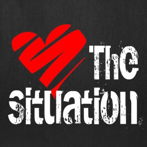 Black Love the Situation T-Shirts - Tote Bag