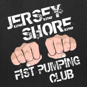 Black Jersey Shore Fist Pumping Club T-Shirts - Tote Bag