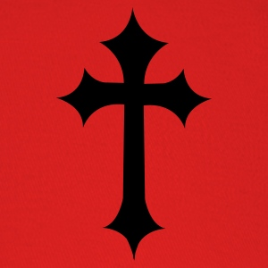 Red fancy gothic cross  T-Shirts - Baseball Cap