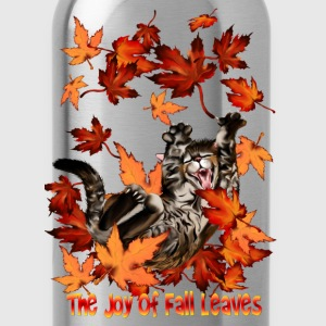 The Joy Of Fall Leaves - Water Bottle