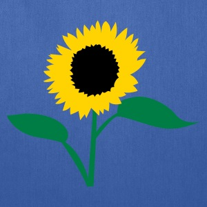Turquoise summer sunflower Kids' Shirts - Tote Bag