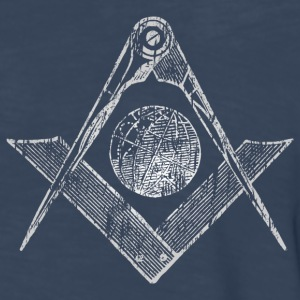 Navy Square & Compasses T-Shirts - Men's Premium Long Sleeve T-Shirt