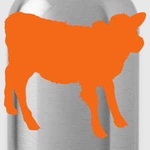 Orange young cow outline beef! T-Shirts - Water Bottle