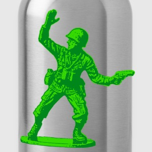 green toy soldier - Water Bottle