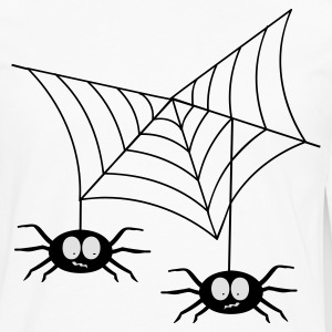 White Spiders in web T-Shirts - Men's Premium Long Sleeve T-Shirt