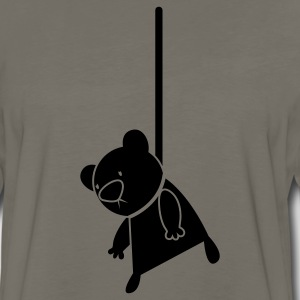 EMO hanging teddy bear cult T-Shirts - Men's Premium Long Sleeve T-Shirt