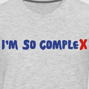 Heather grey im so complex T-Shirts - Men's Premium Long Sleeve T-Shirt