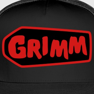 Black grimm with red type and coffin T-Shirts - Trucker Cap