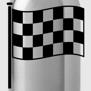 checkered flag RACING motor sport T-Shirts - Water Bottle