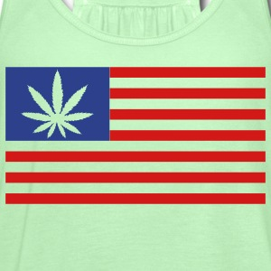 Weed Flag - Women's Flowy Tank Top by Bella