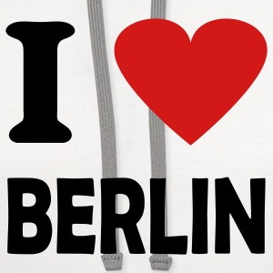 White i love berlin T-Shirts - Contrast Hoodie
