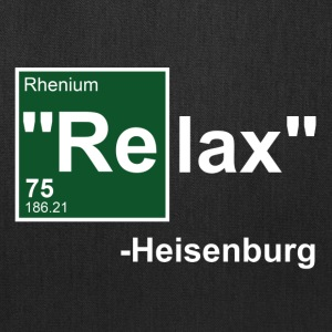 Black Relax Heisenburg T-Shirts - Tote Bag