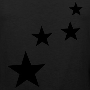 Black stars T-Shirts - Men's Premium Tank