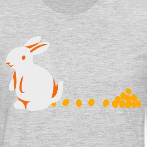 Heather grey bunny with egg chocolate droppings T-Shirts - Men's Premium Long Sleeve T-Shirt