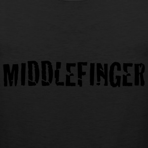 Black middlefinger - middle finger T-Shirts - Men's Premium Tank