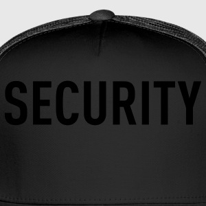 Black Security Tee Toddler Shirts - Trucker Cap