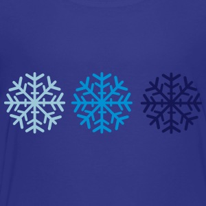 Royal blue Snowflakes Kids' Shirts - Toddler Premium T-Shirt