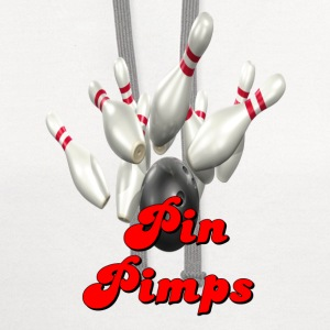 White Bowling Team Pin Pimps T-Shirts - Contrast Hoodie