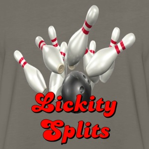 Brown Bowling Team Lickity Splits T-Shirts - Men's Premium Long Sleeve T-Shirt