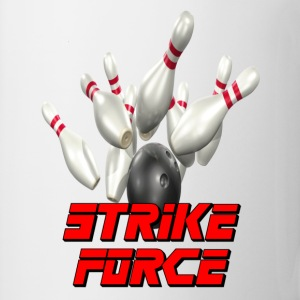 White Bowling Team Strike Force T-Shirts - Coffee/Tea Mug
