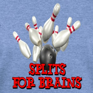Sky blue Bowling Team Splits for Brains T-Shirts - Women's Wideneck Sweatshirt