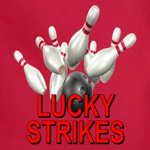 Gold Bowling Team Lucky Strikes T-Shirts - Adjustable Apron