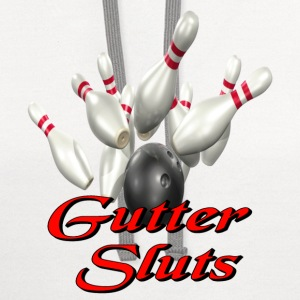 White Bowling Team Gutter Sluts T-Shirts - Contrast Hoodie