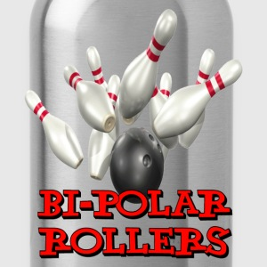 Yellow Bowling Team Bi-Polar Rollers T-Shirts - Water Bottle