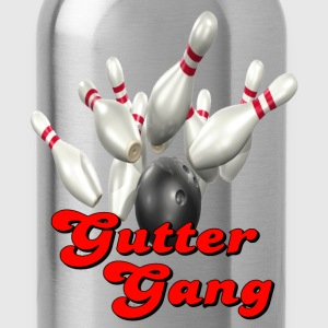 Kelly green Bowling Team Gutter Gang T-Shirts - Water Bottle