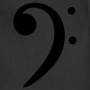 bass clef T-Shirts - Adjustable Apron