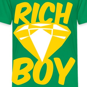 Kelly green rich boy with diamond jewel Kids' Shirts - Toddler Premium T-Shirt