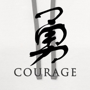White courage - Chinese T-Shirts - Contrast Hoodie