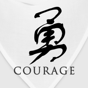 White courage - Chinese T-Shirts - Bandana