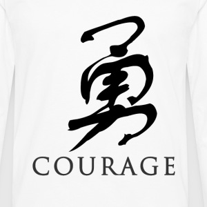 White courage - Chinese T-Shirts - Men's Premium Long Sleeve T-Shirt