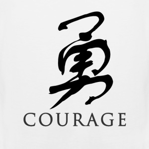 White courage - Chinese T-Shirts - Men's Premium Tank
