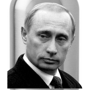 Vladimir Putin (Newspaper Print) - Water Bottle