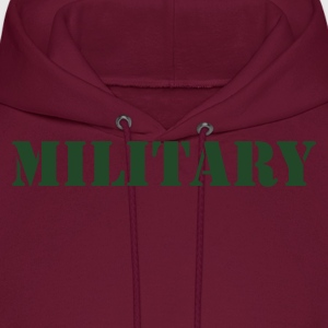 MILITARY in stencil T-Shirts - Men's Hoodie