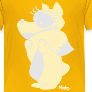 Yellow fox (c) Kids' Shirts - Toddler Premium T-Shirt