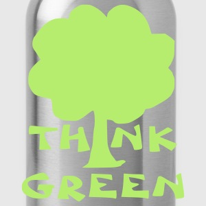 Kelly green think green T-Shirts - Water Bottle