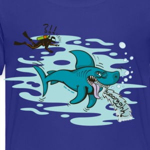 Royal blue Disgusted Shark Kids' Shirts - Toddler Premium T-Shirt