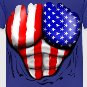 USA Flag Ripped Muscles, six pack, chest t-shirt - Toddler Premium T-Shirt