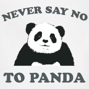 Natural Never Say No To Panda - Grey T-Shirts - Adjustable Apron