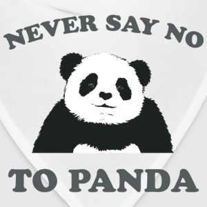 Natural Never Say No To Panda - Grey T-Shirts - Bandana