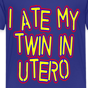 Royal blue I Ate My Twin in Utero Community Kids' Shirts - Toddler Premium T-Shirt