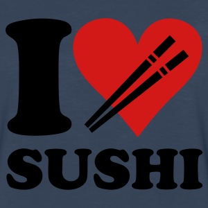 Navy I love SUSHI T-Shirts - Men's Premium Long Sleeve T-Shirt