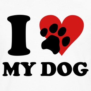 White I love my DOG T-Shirts - Men's Premium Long Sleeve T-Shirt