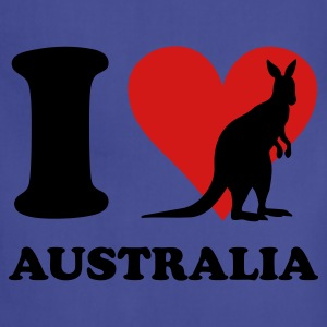 Royal blue I Love Australia Kangaroo T-Shirts - Adjustable Apron