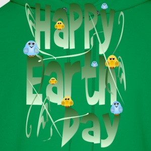 Happy Earth Day and Birds - Men's Hoodie