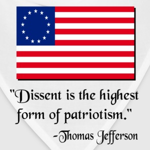 White Dissent Patriotic Thomas Jefferson T-Shirts - Bandana