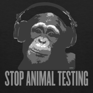 Black DJ MONKEY stop animal testing by wam T-Shirts - Men's Premium Tank